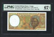 Congo - Central African States 2000 Francs 2000 P103cg Uncirculated Grade 67