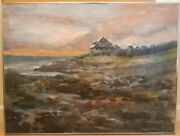 Hall Pierce Groat Sr. New York Artist Andrew Wyethand039s Home Oil Painting Reduced