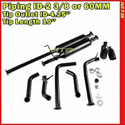 10in 3/8 In 4.25 Out 284281 Clamp On Catback Exhaust For 09-20 Toyota Tundra