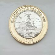 Very Very Rare 2015 First World War Royal Navy Andpound2 Two Pound Hms Belfast