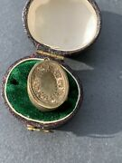 Antique Bloodstone Opening Locket Pendant In Yellow Gold.