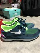 Menand039s 9 M Nike Solarsoft Moccasin Running Shoes Nightshade Navy Blue 555301-314