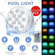 Submersible Led Lights Hot Tub Pool Light Remote Control 13 Leds Rgb Underwater
