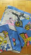 Vintage Power Rangers Twin Sheet Set 1990s Flat Fitted And Pillowcase