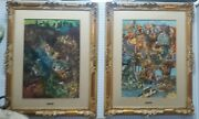 Vincenzo Fanti Italian Artist Pr. Of Fantasy Oil Paintingand039s Great Carved Frames