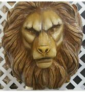 Sergio Bustamante Signed 23/100 Large Hand Painted Paper Mache Lion Head