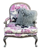Ethan Allen Beautiful Accent Chair With Custom Upholstery And Custom Wood Stain
