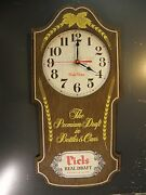 Piels Premium Beer Wood Wall Clock Piels Time Battery Operated