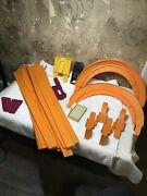 Large Vintage Lot 28 Pieces Hot Wheels Track Clamp Connectors Red Line U-turn