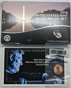 2019 Us Mint Silver Proof Set - 11 Coins Total- W/ Reverse Proof W Cent Unopened