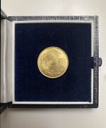 Extremely Rare 1922. 10 Fr Switzerland Helvetica Gold Proof Coin 3.22g Grade Ef