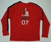Rare Vtg Polo Spell Out Us Open Tennis 07 2007 Ls T Shirt 2000s 2xl