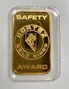 Johnson Matthey Jm Cortez Gold Mines Safety Award 1/2 Oz 9999 Gold Bar Sealed
