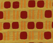 C5c Contemporary Retro Chic Upholstery Fabric 5 Yards Red Gold Multi