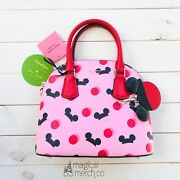Disney Mickey Mouse Ear Hat Small Satchel Pink Kate Spade New York New With Tags
