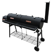 Vidaxl Smoker Bbq Black Meat Grill Thermometer Outdoor Barbecue Food Cooking