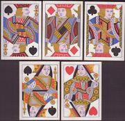 Old Antique C1870 Square Corner Playing Cards Poker Hand Full House Jacks Queens