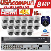 Hikvision Cctv Security System 16 Ch 3mp Dome Vandal/weather Proof Hdd Included