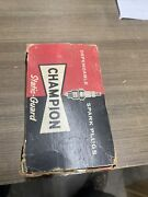 New Old Stock Box Of 10 Champion Spark Plugs Rf-9y5 Vintage