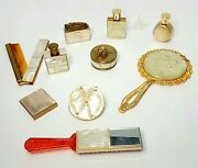Vintage Nacre Design Dressing Table Vanity Set / 10 Pieces / Mother Of Pearl