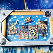 Disney Store Toy Story 25th Anniversary Pin Set Limited Edition New With Box