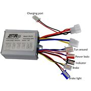 24v 500w Speed Controller Electric Bicycle E-bike Scooter Brush Dc Motor