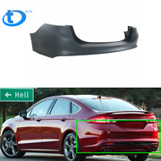 New Primered Rear Bumper Cover Replacement For 2013-2018 Ford Fusion W/o Park Us