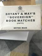 Genuine Nos Leyland Cars Bryant And May Match Packets X 50 Mg Austin Rover