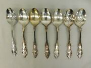 7 Oneida Community 2 Canada Serving Spoons 3 Slotted Rose Pattern Silver