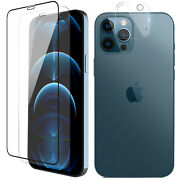 For Iphone 13/12 Pro Maxmini Full Coverage Tempered Glass/lens Screen Protector