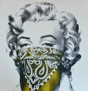 Mr. Brainwash - Stay Safe - Marilyn Monroe Yellow -signed Numbered -sold Out