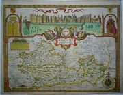 Antique Map Of Berkshire By John Speed 1627