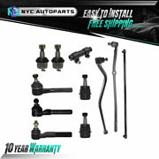 Front Track Bar Tie Rod Ball Joint 11pc Kit For 1991-2001 Jeep Cherokee Comanche