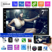 7'' Android 9.1 Wifi 2din Car Fm Am Radio Stereo Gps Navi 1+16gb Mp5 Player Kit