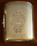 Antique Russian Silver And Gold Heavily Tooled Signed K. B. 84 Snuff Box