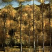 36wx36h Aspen By Albert Williams -autumn Trees Forest Leaves Choices Of Canvas
