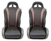 Pair Of Red Carbon Edition Daytona Seats-2018 Wildcat Xx - Tracker Xtr1000