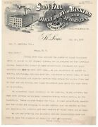 1899 Gast Paul Directory Bankers Attorneys Banker Lawyer Letterhead St Louis Mo