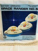 Space Ranger No5 Tin Toy Ufo Made In Japan Vintage Rare