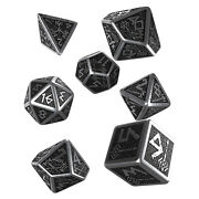 Q-workshop Dwarven Metal Roleplaying 7 Piece Dice Set New In Stock