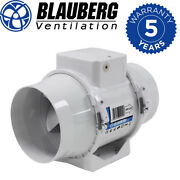 Blauberg Turbo-e In-line Mixed Flow Extractor Fan With Timer 4 100mm Bathroom
