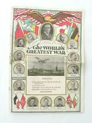 1917 Magazine Ww 1 Maps Pictures Us President Wilson Proclamation Of War