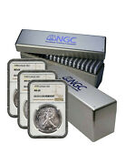 1986-2021 American Silver Eagle 36-pc Set Ngc Ms69 2 New Ngc Boxes