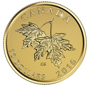 Pure Gold Coin – Maple Leaves With Queen Elizabeth Ii Effigy From 2003 – 2016