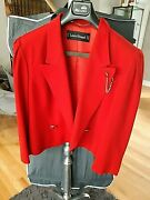 1 Day Left Louis Feraud Fandeacuteraud Red Coat+skirt From West Germanyfree Shipping