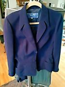 1 Day Left Thierry Mugler Blue Coat+skirt Size 44 France Made Free Shipping