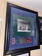 Ted Williams Autograph Signed 8x10 Photo W/ Fenway Park Seat Back Shadowbox