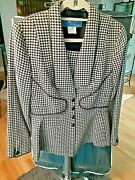 1 Day Leftthierry Mugler Houndstooth/pied De Poule Motif Size 42free Shipping