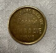 Vintage Trade Token Kc Williams And Co. Rogers Tokyo Seeburg Japan