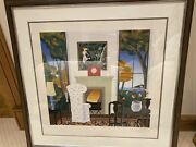Red Clock By Thomas Mcknight Limited Edition Signed Print 1983